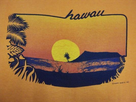 VINTAGE 80'S HAWAII SUNSET T-SHIRT