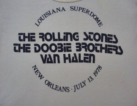 VINTAGE 1978 THE ROLLING STONES DOOBIE BROTHERS TOUR T-SHIRT