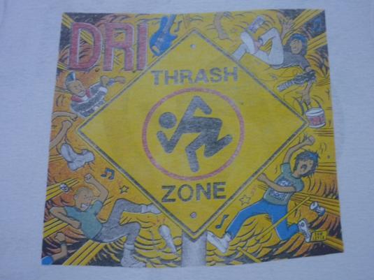 VINTAGE 80S DRI THRASH ZONE PAPERTHIN T-SHIRT