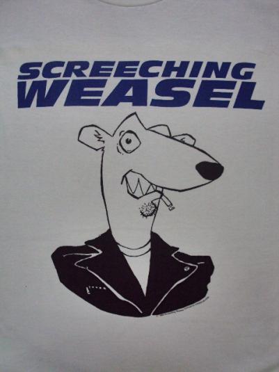 VINTAGE 1994 SCREECHING WEASEL T-SHIRT
