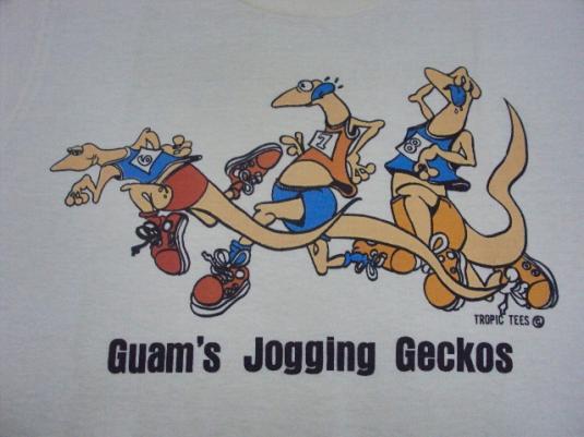 VINTAGE 70'S GECKOS GUAM JOGGING T-SHIRT