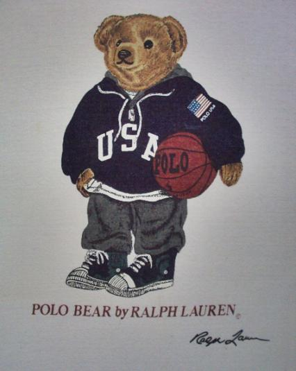 VINTAGE POLO BEAR BY RALPH LAUREN USA T-SHIRT