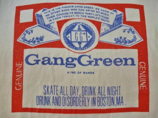 VINTAGE 1990 GANG GREEN BUDWEISER EUROPE TOUR T-SHIRT