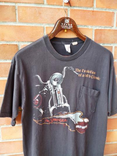 VINTAGE 1988 HARLEY DAVIDSON STURGIS SPRINGER T-SHIRT