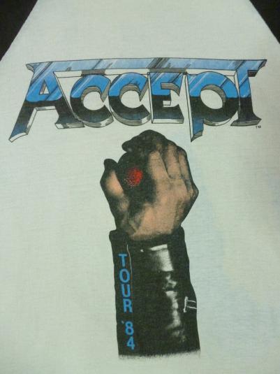 VINTAGE 1984 ACCEPT TOUR T-SHIRT