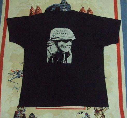 """VINTAGE 1985 THE SMITHS """"MEAT IS MURDER"""" PROMO TEE"""