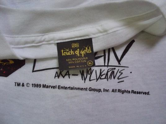 VINTAGE 1989 WOLVERINE X MEN T-SHIRT