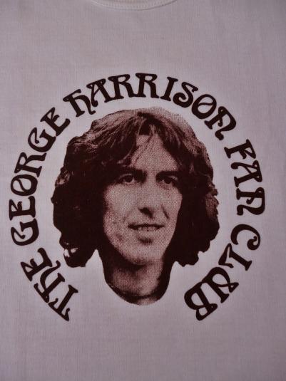 VINTAGE 1970'S THE GEORGE HARRISON FANCLUB T-SHIRT