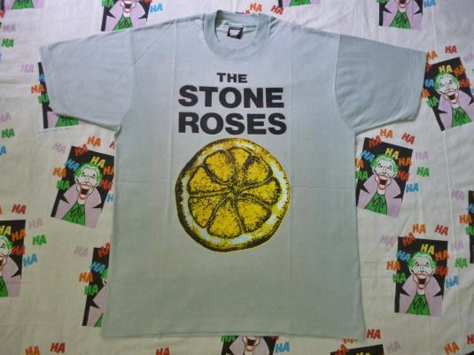 RARE VINTAGE 80S THE STONE ROSES LEMON T-SHIRT