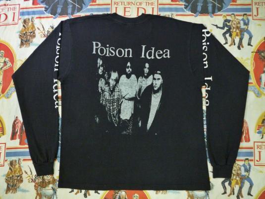 VINTAGE 1990 POISON IDEA PROMO T-SHIRT