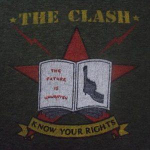 VINTAGE THE CLASH 1982 NORTH AMERICAN TOUR