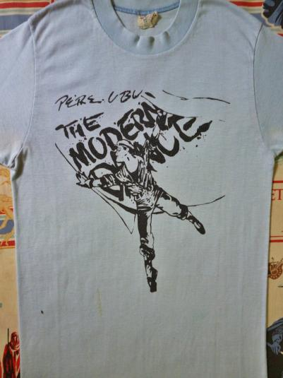 "VINTAGE 1978 PERE UBU ""THE MODERN DANCE"" T-SHIRT"