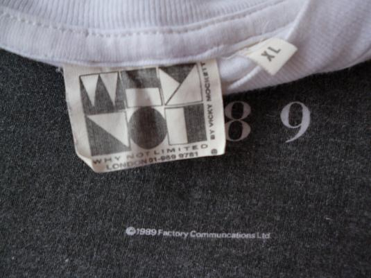 VINTAGE 1989 NEW ORDER SUBSTANCE FACTORY RECORDS T-SHIRT