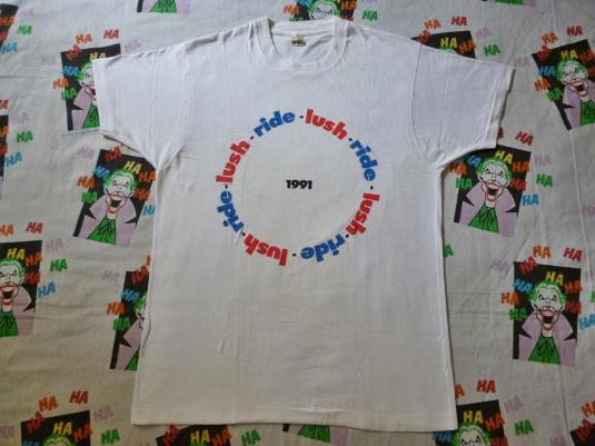 VINTAGE 1991 RIDE & LUSH US TOUR T-SHIRT
