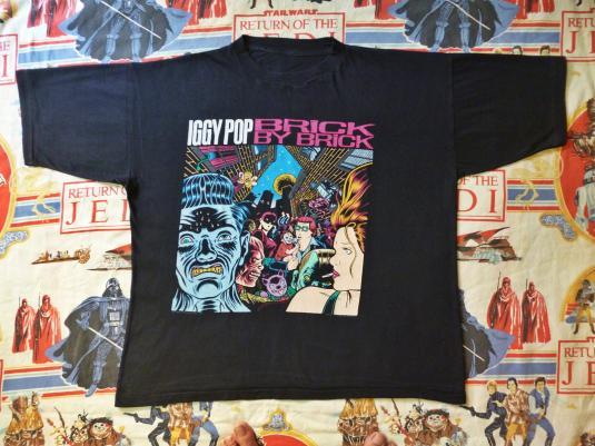 VINTAGE 1990 IGGY POP BRICK BY BRICK T-SHIRT