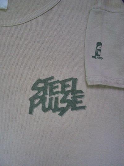 VINTAGE 1978 STEEL PULSE ISLAND RECORD PROMO T-SHIRT