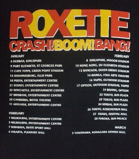 VINTAGE 90'S ROXETTE TOUR