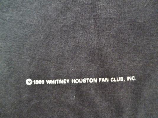 VINTAGE 1989 WHITNEY HOUSTON T-SHIRT