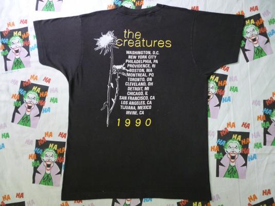 VINTAGE 1990 THE CREATURES US TOUR T-SHIRT