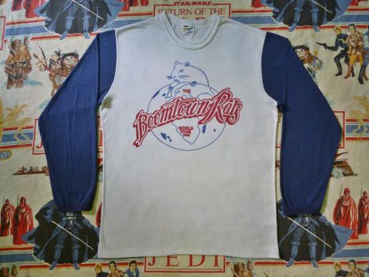 VINTAGE 1980 THE BOOMTOWN RATS WORLD TOUR T-SHIRT