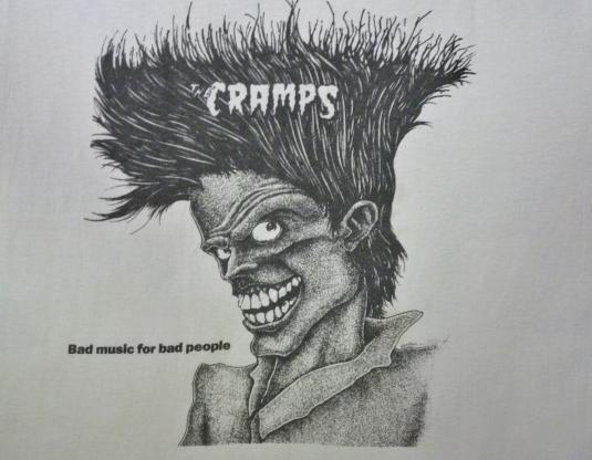 VINTAGE 1984 THE CRAMPS T-SHIRT