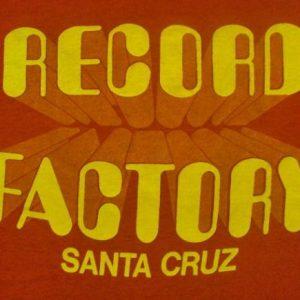 VINTAGE 1970'S RECORD FACTORY SANTA CRUZ