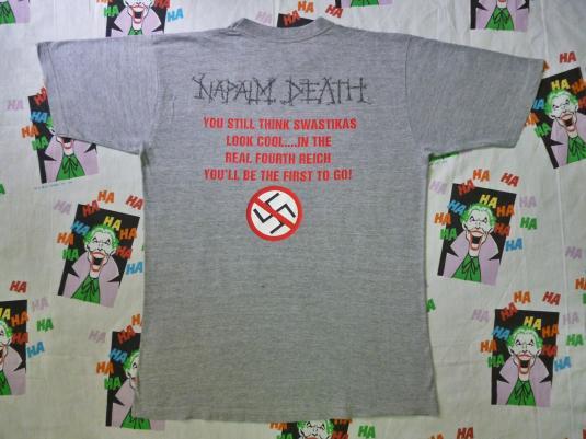 VINTAGE 1993 NAPALM DEATH NAZI PUNKS FUCK OFF T-SHIRT