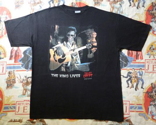 VINTAGE 1994 ELVIS TALES OF THE CRYPT T-SHIRT DEADSTOCK