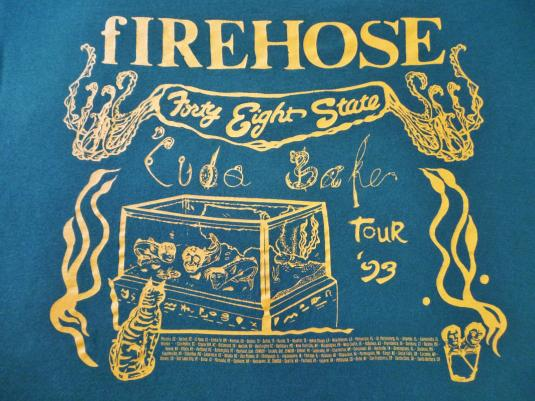 VINTAGE 1993 FIREHOSE 48 STATE TOUR T-SHIRT