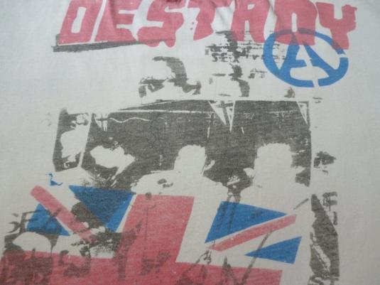 VINTAGE 80S SEX PISTOLS DESTROY T-SHIRT