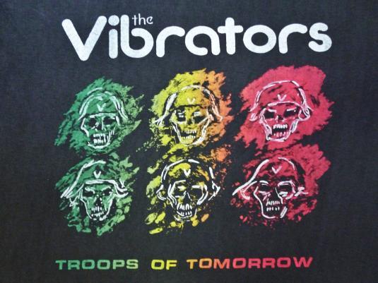 VINTAGE THE VIBRATORS TROOPS OF TOMORROW T-SHIRT