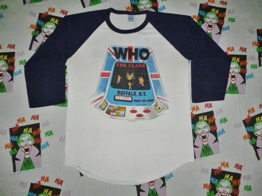 VINTAGE 1982 THE WHO THE CLASH TOUR JERSEY T-SHIRT