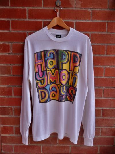 VINTAGE 1988 HAPPY MONDAYS W.F.L. T-SHIRT