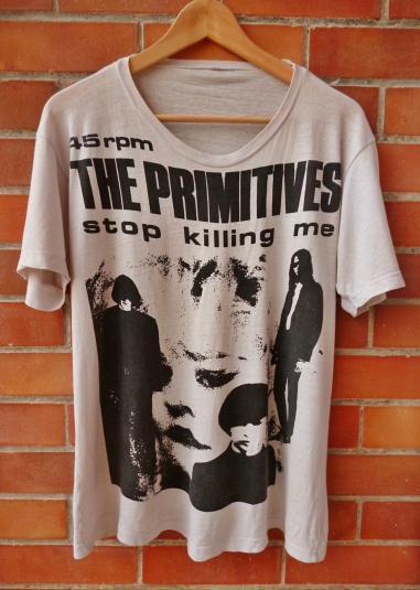 RARE VINTAGE 1986 THE PRIMITIVES STOP KILLING ME T-SHIRT