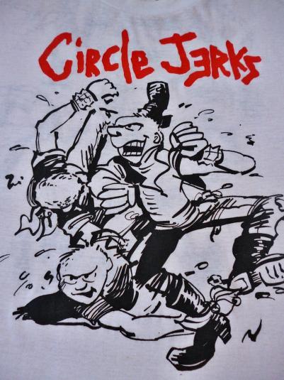 VINTAGE 1980S CIRCLE JERKS SLAM PUNK POGO T-SHIRT
