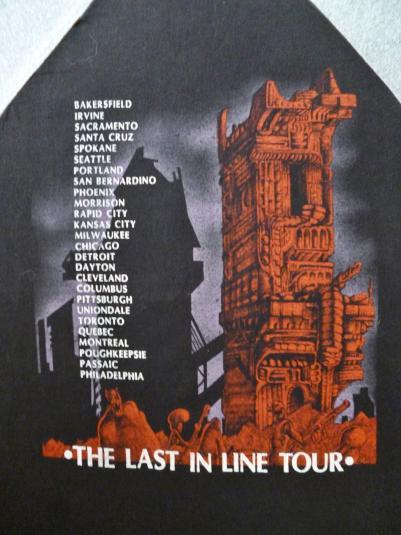 VINTAGE 1984 DIO THE LAST IN LINE TOUR T-SHIRT