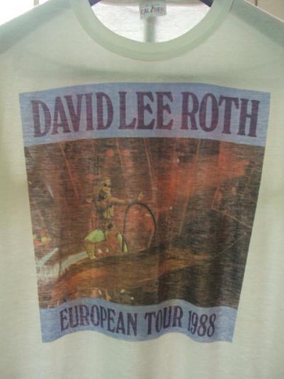 VINTAGE 1988 DAVID LEE ROTH EUROPEAN TOUR T-SHIRT