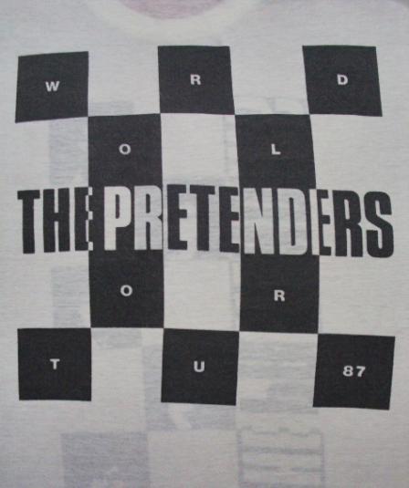 VINTAGE THE PRETENDERS WORLD TOUR 1987