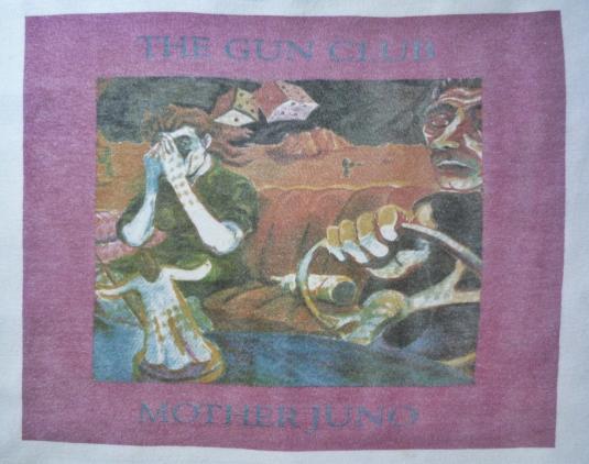 VINTAGE 1987 THE GUN CLUB MOTHER JUNO T-SHIRT