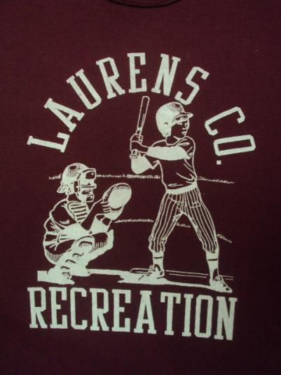 VINTAGE LAURENS CO. RECREATION BASEBALL T-SHIRT