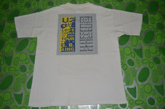 Vintage U2 Love Comes To Town Australian BB King 1989 Tshirt