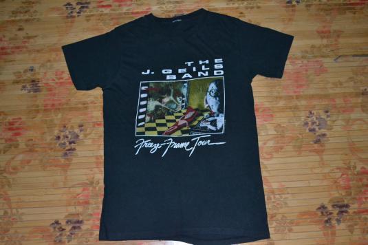 Vintage 1981 THE J. GEILS BAND Freeze Frame Concert T-shirt
