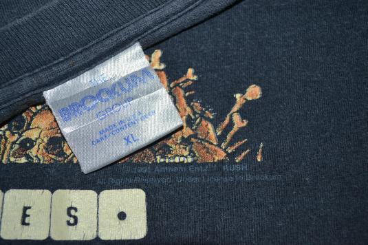 Vintage 90s RUSH Roll The Bones Tour Pushead T-shirt