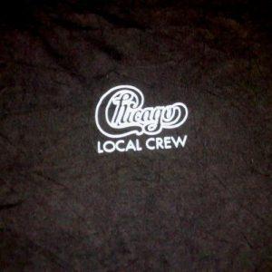 Vintage 80s CHICAGO Local Crew Concert Tour Promo T-shirt
