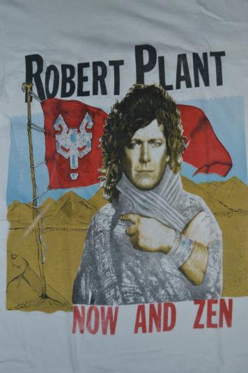 Vintage 1988 ROBERT PLANT Now and Zen Tour Concert T-shirt