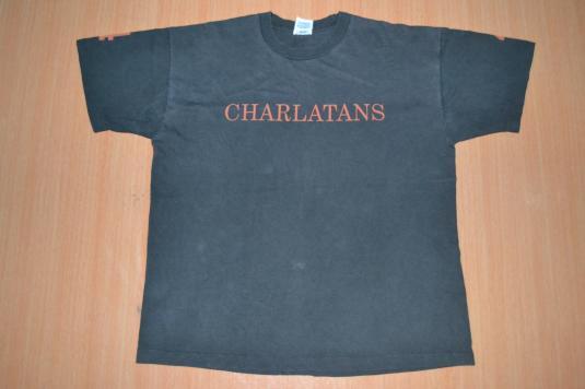 VINTAGE 90s THE CHARLATANS 4 PROMO ALBUM T-SHIRT