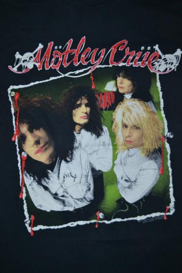 Vintage 1989 MOTLEY CRUE Dr Feelgood Crue Fans T-shirt