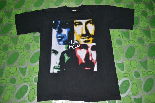 Vintage U2 Pop Mart Tour Concert Promo album 90s T-shirt
