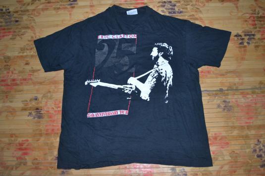 Vintage 1988 ERIC CLAPTON 25th Anniversary Tour T-shirt