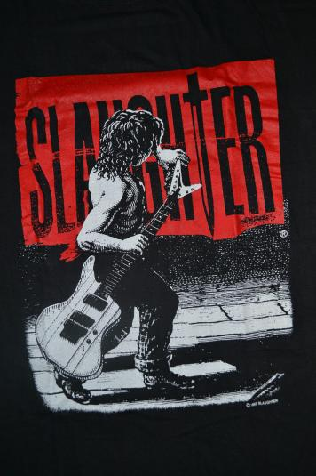 Vintage 1992 SLAUGHTER The Wild Life promo T-shirt